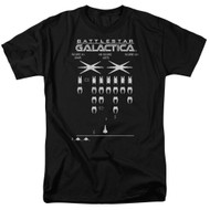 Mens Battlestar Galactica Galactic Invaders T-Shirt