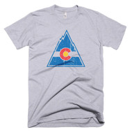 Vintage Colorado Rockies Hockey Inspired Mens T-Shirt