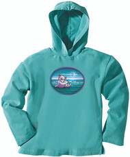Grateful Dead WaterSide Dancing Bear Womens Lt Weight Hoodie