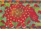 African Greeting Card. 'Hippopotamus' by Phillipa-Alys Browne