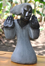 Zimbabwe Shona Stone Sculpture - 'Lady Hands' by Rufaro Ngoma