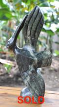 Zimbabwe Shona Stone Sculpture 'Graceful Bird'