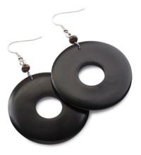 African Ebony Wood Earrings