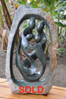 Shona Sculpture | Family of Four by Freedom Choto