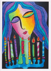 African Greeting Card 'Chanukah Lights' by Jocelyn Rossiter