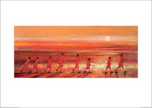 African Art Print - 'Samburu Sunset' by Jonathan Sanders