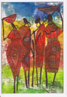 African Card 'Elegant' by Jocelyn Rossiter