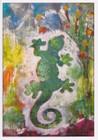 African Greeting Card - 'Gecko. by Jocelyn Rossiter