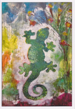 African Greeting Card - 'Gecko. by Jocelyn Rossiter