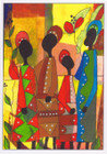 African Greeting Card 'Wedding Clothes' by Jocelyn Rossiter