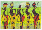 African Greeting Card 'Through the Reeds' by Jocelyn Rossiter