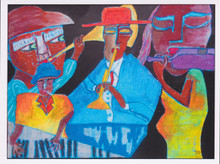 African Greeting Card 'Jam Session' by Jocelyn Rossiter