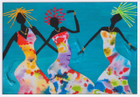 African Greeting Card 'Joyful Sisters' by Jocelyn Rossiter