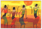 African Greeting Card 'Sunshine Sisters' by Jocelyn Rossiter