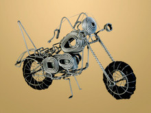 Recycled Wire Motorbike