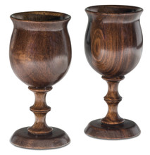 Wooden Goblets Handcrafted from African Leadwod