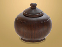 Ebony Pot. Handcrafted from African Ebony Wood