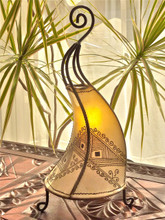 Moroccan Henna Lamp - Natural Abstract Design
