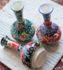 Kabartma tear catcher vases.  Handmade and hand painted in Turkey.