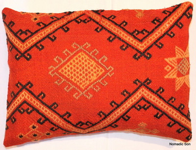 Vintage kilim cover - rectangle (30*42cm) #KR9