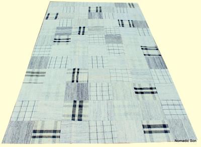 'Hamptons' Patchwork kilim (#G276) 145*254cm