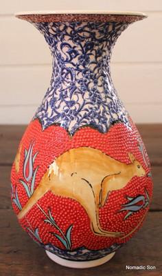 'Big Red' Kangaroo Vase