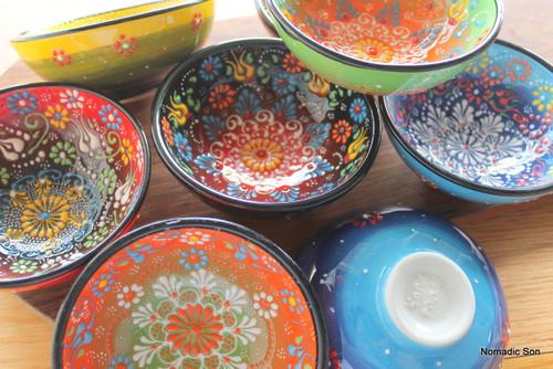 12cm Ceramic Bowls - Special Kabartma Style