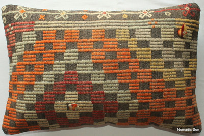 Vintage kilim cover rectangle (40*60cm) #KR183