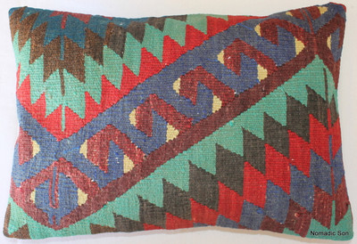 Vintage kilim cover rectangle (35*50cm) #TR30
