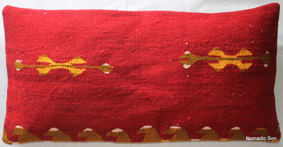 Vintage kilim cover rectangle (40*80cm) #LR33