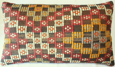 Vintage kilim cover rectangle (40*70cm) #DC14