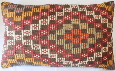 Vintage kilim cover rectangle (40*65cm) #DC17