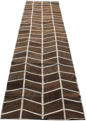 Natural Patchwork Kilim Runner (#J208) 80*407cm
