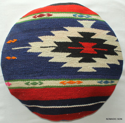 Kilim Cushion Cover Round (50cm) #RL5
