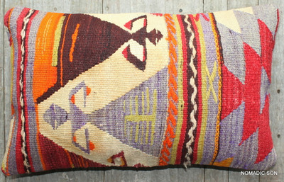 Vintage kilim cover - small rectangle (30*50cm) #SR62