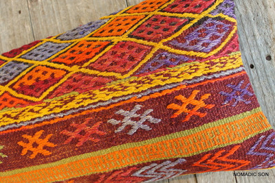 Vintage Kilim cover rectangle (30*70cm) #L3712