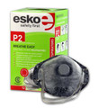 Esko Breathe Easy Disposable Valved Dust / Mist / Fume Respirator Masks P2 Rated With Carbon Filter
