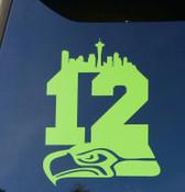 Seahawks 12 Car   Decals