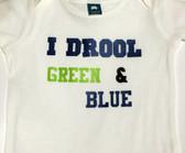 I Drool Green and Blue Seahawks BIB