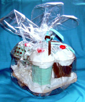 Aqua and Brown personalized Gift Pack