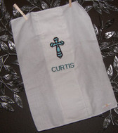 Cross Applique Burp Cloth
