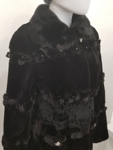Black Dyed shared Mink Jacket with details