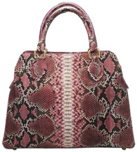 Jessamine - Python Bag Pink w/ Natural Markings