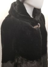 Black Dyed Mink Jacket