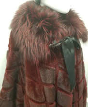 Burgundy Mink and Fox jacket