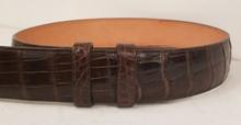 Brown american Alligator Belt
