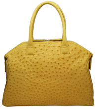 Italo - Ostrich Bowling Bag - Yellow
