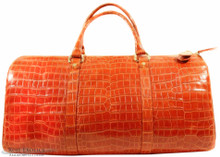 Aino  Duffel - Orange Alligator Belly