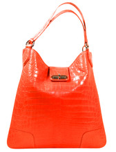 Rainier - Nile Crocodile Belly Tote - Orange