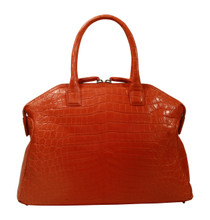 Italo - Nile Crocodile Bowling Bag - Orange